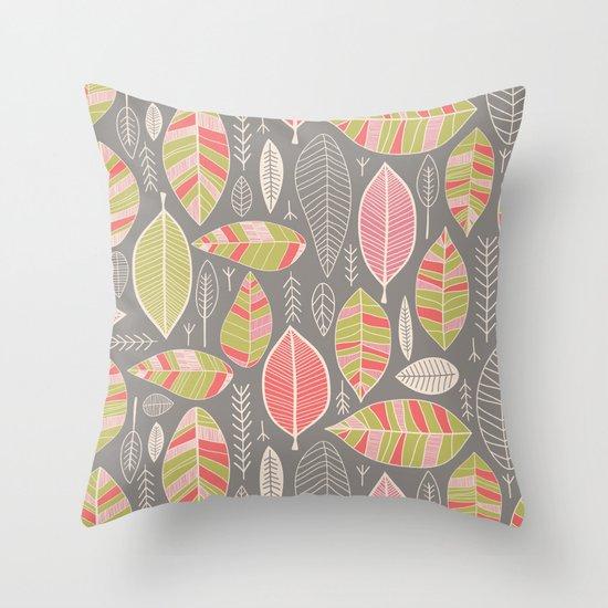 Leaf Study No. 1 Throw Pillow