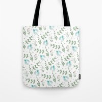 Fun Summer Flower Pattern Tote Bag