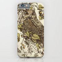 owl iPhone & iPod Cases featuring Great Horned Owl by Teagan White