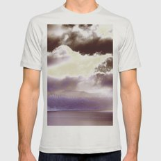 Sky Ring Mens Fitted Tee Silver SMALL