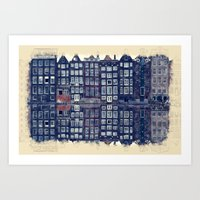 Amsterdam Watercolor And Sketch Art Print