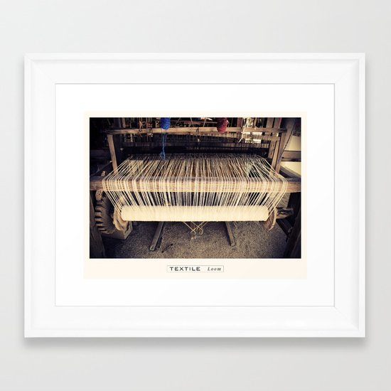 Textile Series - Loom Framed Art Print