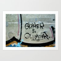 Glitter and glamour Art Print