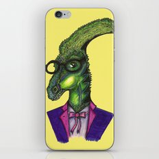 Hipster Dino iPhone & iPod Skin