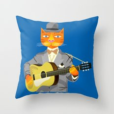 Tibbles Plays Acoustic Throw Pillow