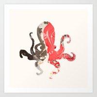 Marble Octo Art Print