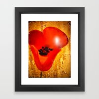 Coquelicot Framed Art Print