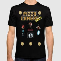 The Pizza Gamers SMALL Black Mens Fitted Tee