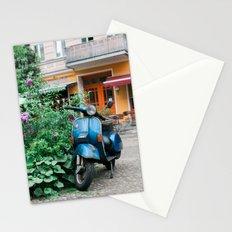 Vintage Blue Vespa Scooter Stationery Cards