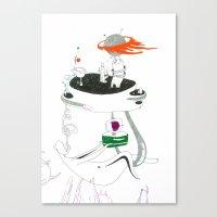 VACANCY Zine - A Dangerous Bedroom Canvas Print