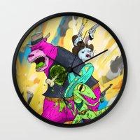 Floating BunnyHead Weste… Wall Clock