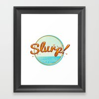 Summer Slurp! Framed Art Print