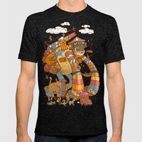 Circusbot Mens Fitted Tee Tri-Black SMALL