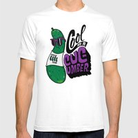 Cool As A Cucumber Mens Fitted Tee White SMALL
