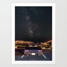 Drive in Milky Way Art Print