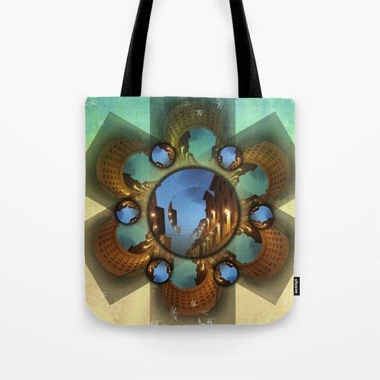 Emerald orbit Tote Bag