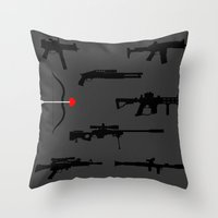 Deadly Weapons Throw Pillow