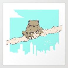 City Frog Art Print