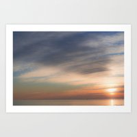 sunset in Grado Art Print