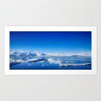 Ice lagoon 4 Iceland Art Print