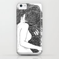 iPhone 5c Cases featuring Apollonia Saintclair 590 - 20150826 Le peigne (Combing her hair) by From Apollonia with Love