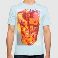 Male Torso Summer Mens Fitted Tee Light Blue SMALL