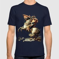 Napoleon Crossing the Alps Mens Fitted Tee Navy SMALL