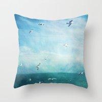 brighton seagulls 3 Throw Pillow