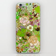 Detailed summer floral pattern, green iPhone & iPod Skin