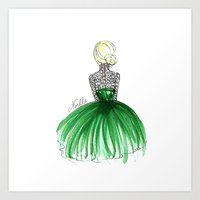 Emerald Dress Art Print
