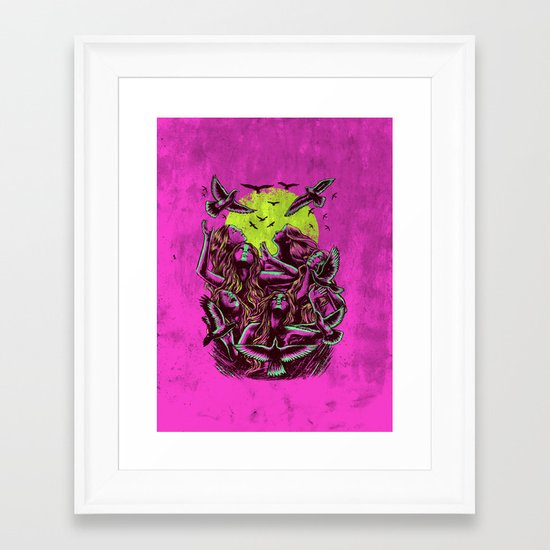 FLAYING BACK Framed Art Print