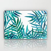 Watercolor Palm Leaves on White Laptop & iPad Skin