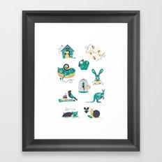 Homes Framed Art Print