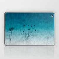 Blue Floral ~ Silhouette… Laptop & iPad Skin