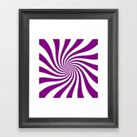 Swirl (Purple/White) Framed Art Print