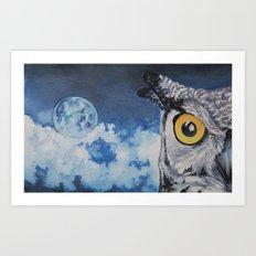 Edgar's Last Night Free Art Print