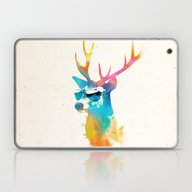 Laptop & iPad Skin featuring Sunny Stag by Robert Farkas