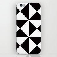 B/W triangle X4 pattern iPhone & iPod Skin