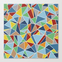 Abstraction Outline Canvas Print