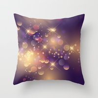 Festive Sparkles in Purple Throw Pillow