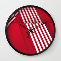 Optical illusion_red Wall Clock