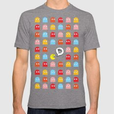 Pac-Man Trapped Mens Fitted Tee Tri-Grey SMALL