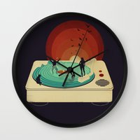 Soundwaves Wall Clock