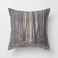 Into the depths of the forest Throw Pillow