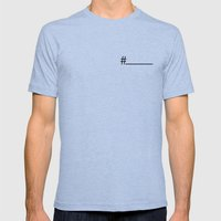 THE HASHTAG Mens Fitted Tee Tri-Blue SMALL