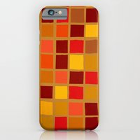 iPhone Cases featuring colored mosaic 02 by Ioana Luscov