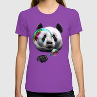 PANDA BUBLEMAKER Womens Fitted Tee Ultraviolet SMALL