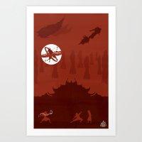 Avatar - Fire Book Art Print
