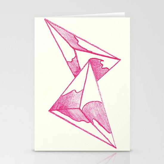 CRAYON LOVE: Strawberry Milk From The FUTURE Stationery Card