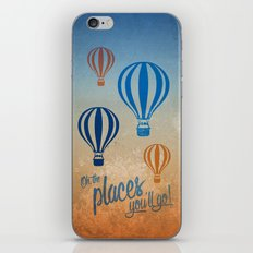Oh, the Places You'll Go - Blue & Gold iPhone & iPod Skin